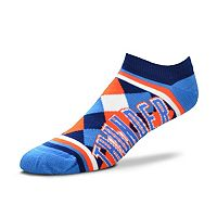 Women's For Bare Feet Oklahoma City Thunder Argyle No-Show Socks