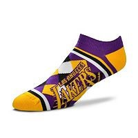 Women's For Bare Feet Los Angeles Lakers Argyle No-Show Socks