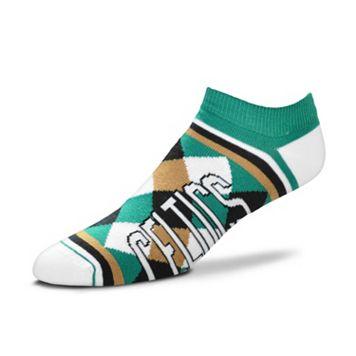 Women's For Bare Feet Boston Celtics Argyle No-Show Socks