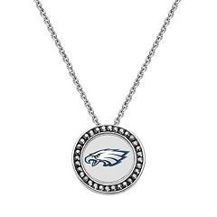Philadelphia Eagles Team Logo Crystal Pendant Necklace - Made with Swarovski Crystals