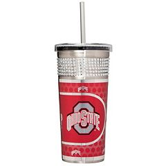 Ohio State Buckeyes Bling Stainless Steel Straw Tumbler