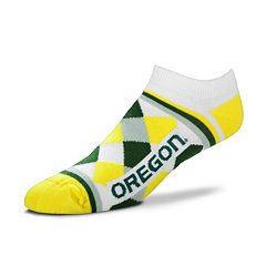 Women's For Bare Feet Oregon Ducks Argyle No-Show Socks
