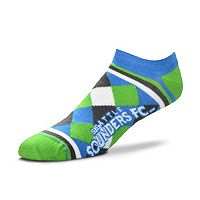 Women's For Bare Feet Seattle Sounders Argyle No-Show Socks