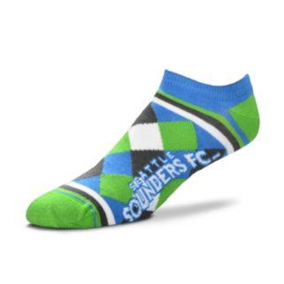 Women's For Bare Feet Seattle Sounders Argyle No-Show Socks