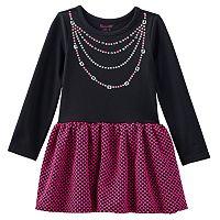 Nannette Polka-Dot Necklace Dress - Toddler Girl