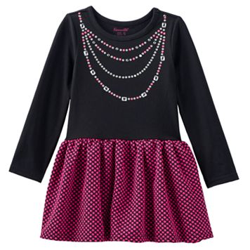 Nannette Polka-Dot Necklace Dress - Toddler Girl