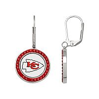 Kansas City Chiefs Crystal Team Logo Drop Earrings