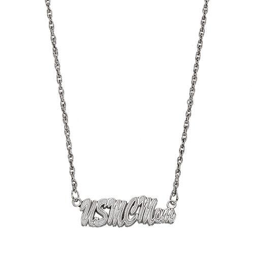 "LogoArt Sterling Silver ""USMC Mom"" Necklace"