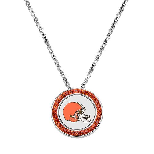 Cleveland Browns Team Logo Crystal Pendant Necklace - Made with Swarovski Crystals