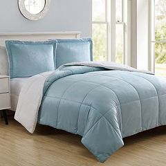 VCNY Micromink & Sherpa Reversible Comforter Set