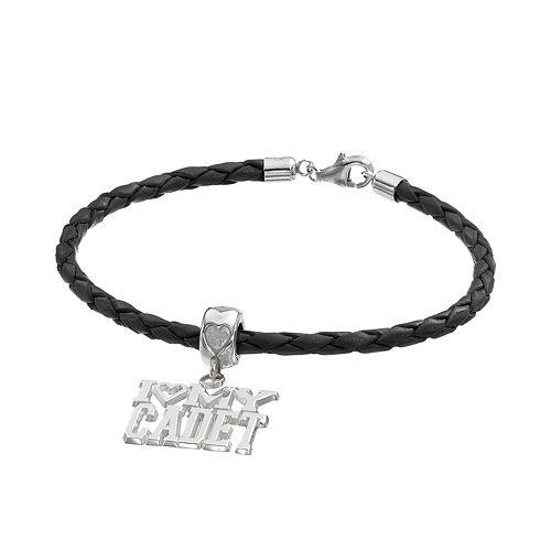 "LogoArt Sterling Silver ""I Love My Cadet"" Charm Bracelet"