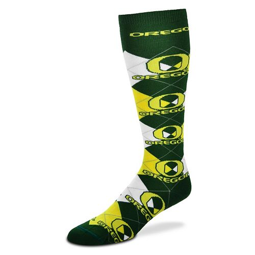 Women's For Bare Feet Oregon Ducks Argyle Knee-High Socks