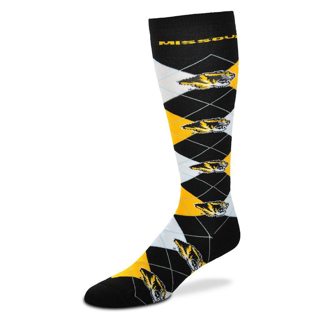 Women's For Bare Feet Missouri Tigers Argyle Knee-High Socks
