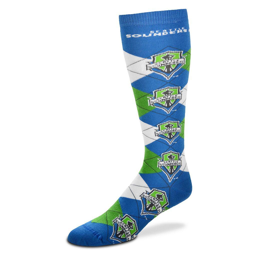 Women's For Bare Feet Seattle Sounders Argyle Knee-High Socks