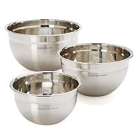 Food Network™ 3 pc Stainless Steel Mixing Bowl Set