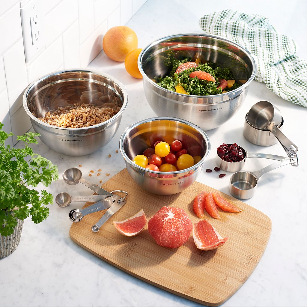 Food Network™ 3-pc. Stainless Steel Mixing Bowl Set