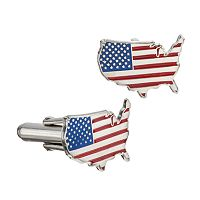LogoArt Stainless Steel United States American Flag Cuff Links