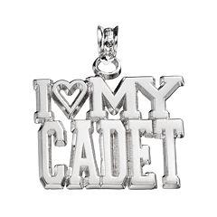 LogoArt Sterling Silver 'I Love My Cadet' Pendant