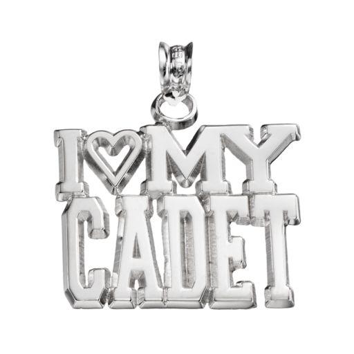 "LogoArt Sterling Silver ""I Love My Cadet"" Pendant"