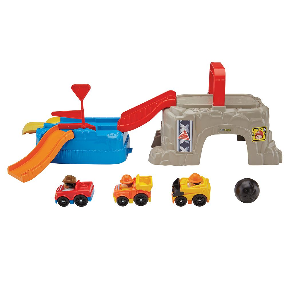 Fisher-Price Little People Wheelies Play 'N Go Construction Site