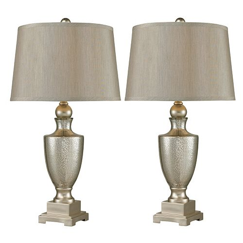 Dimond Antique Mercury Glass Table Lamp 2-piece Set