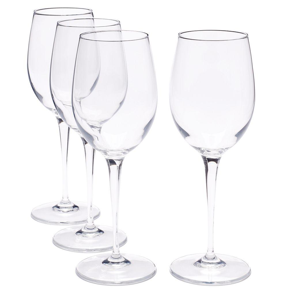 Food Network™ Signature 4-pc. Crystal White Wine Glass Set