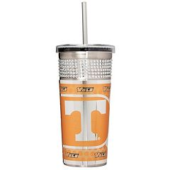 Tennessee Volunteers Bling Stainless Steel Straw Tumbler