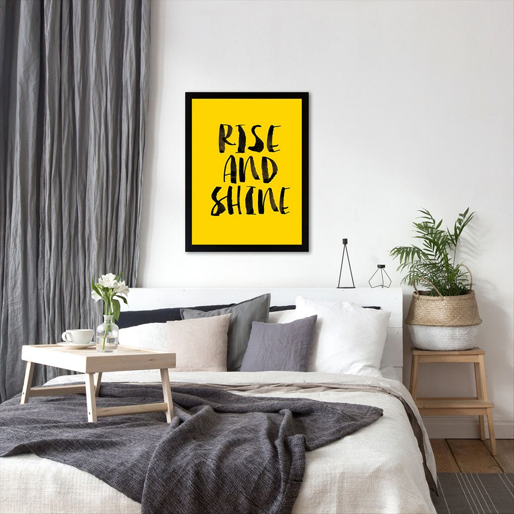 Americanflat ''Rise and Shine'' Framed Wall Art
