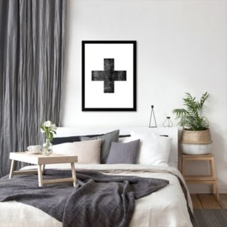 Americanflat Swiss Cross Framed Wall Art