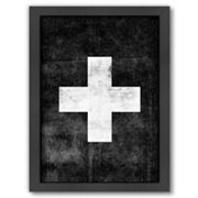 Americanflat Swiss Cross Framed Wall Art