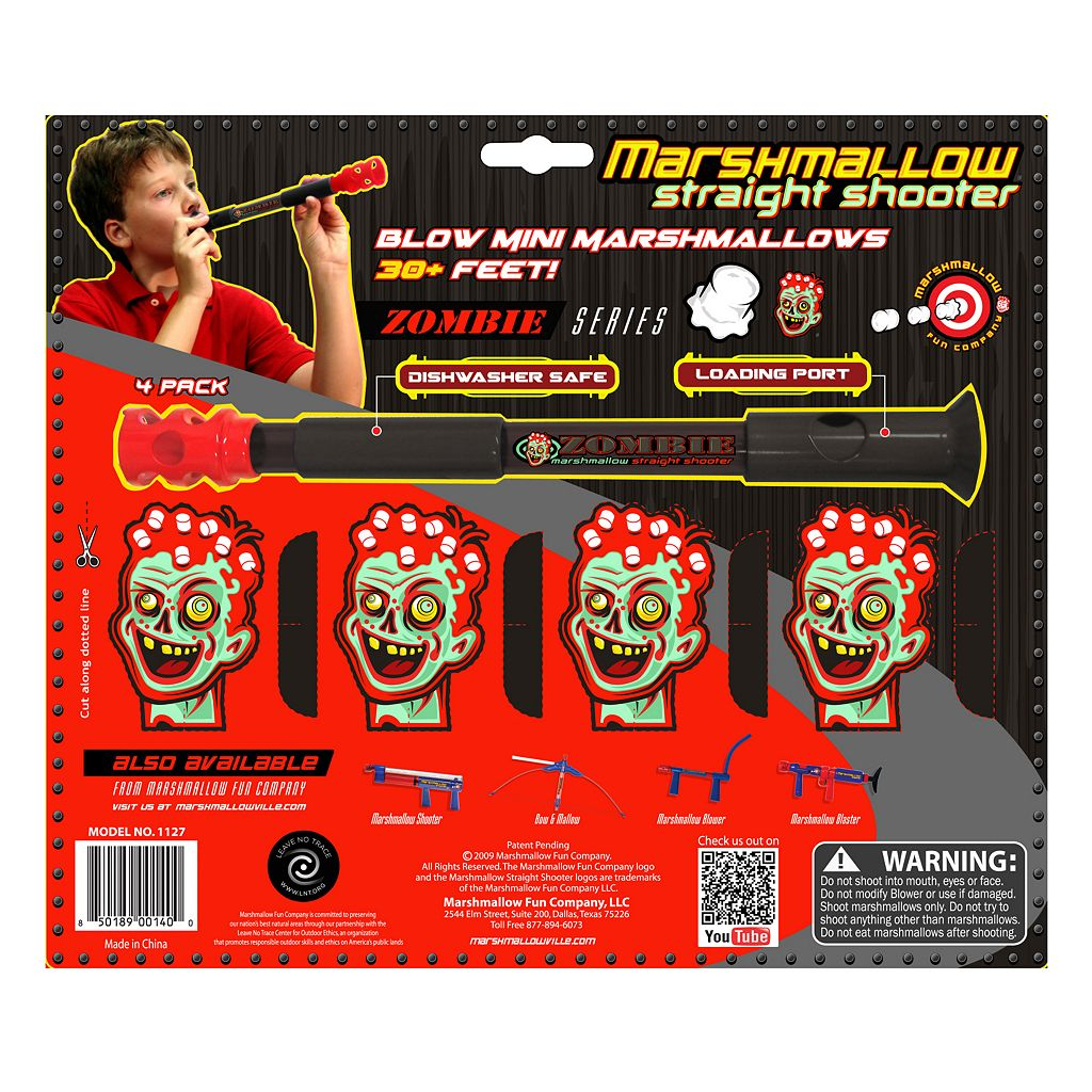Marshmallow 4-pk. Zombie Straight Shooters by Marshmallow Fun Company