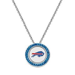 Buffalo Bills Team Logo Crystal Pendant Necklace - Made with Swarovski Crystals