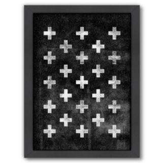 Americanflat Swiss Cross Pattern Framed Wall Art
