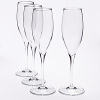 Food Network™ Signature 4-pc. Crystal Champagne Glass Set