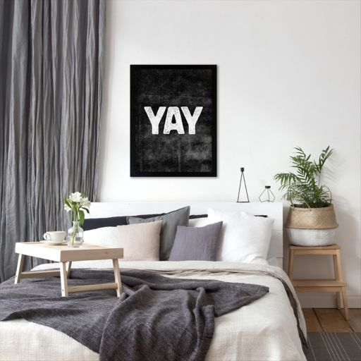 Americanflat ''Yay'' Framed Wall Art