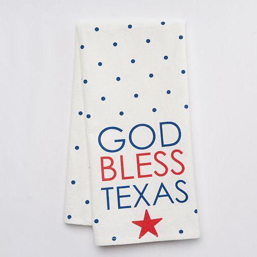 "Collins ""God Bless Texas"" Kitchen Towel"