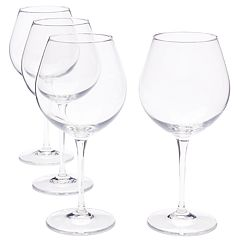Food Network™ Signature 4 pc Crystal Balloon Red Wine Glass Set