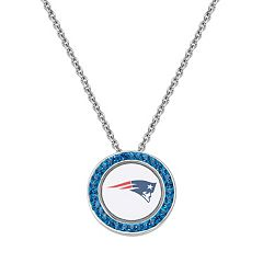 New England Patriots Team Logo Crystal Pendant Necklace - Made with Swarovski Crystals