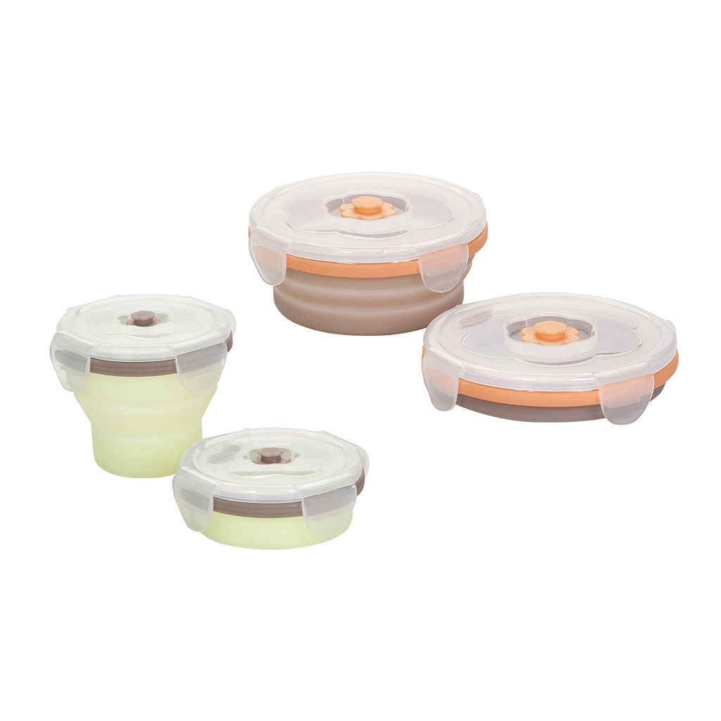 Babymoov 4-pk. Stackable & Foldable Containers Set