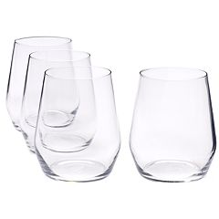 Food Network™ Signature 4 pc Crystal Stemless Red Wine Glass Set