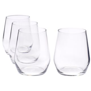 Food Network™ Signature 4-pc. Crystal Stemless Red Wine Glass Set