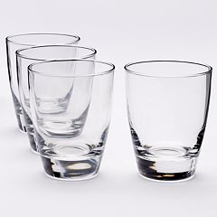Food Network™ Signature 4 pc Crystal Double-Old Fashioned Glass Set