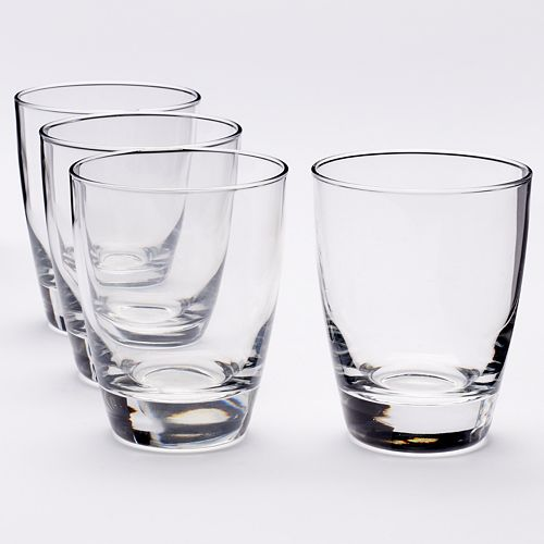 Food Network™ Signature 4-pc. Crystal Double-Old Fashioned Glass Set