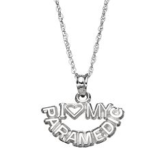 LogoArt Sterling Silver 'I Love My Paramedic' Pendant Necklace