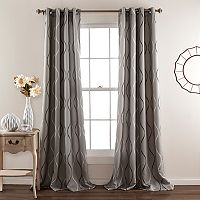 Lush Decor 2-pack Swirl Room Darkening Window Curtains - 52'' x 84''