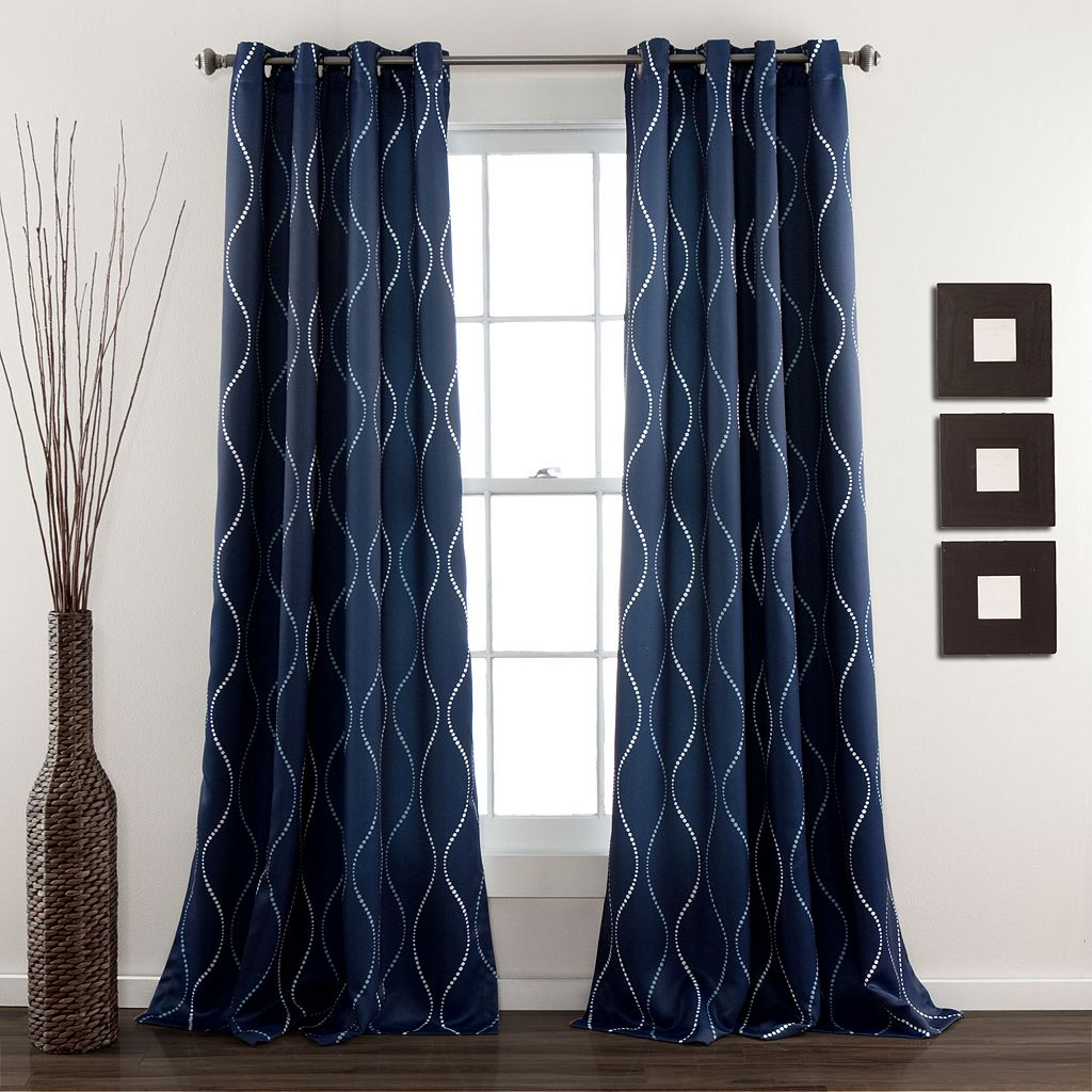 Lush Decor Swirl Room Darkening Window Curtain Set - 52'' x 84''