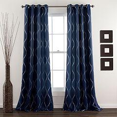 Lush Decor 2-pack Swirl Room Darkening Window Curtains - 52'' x 84''