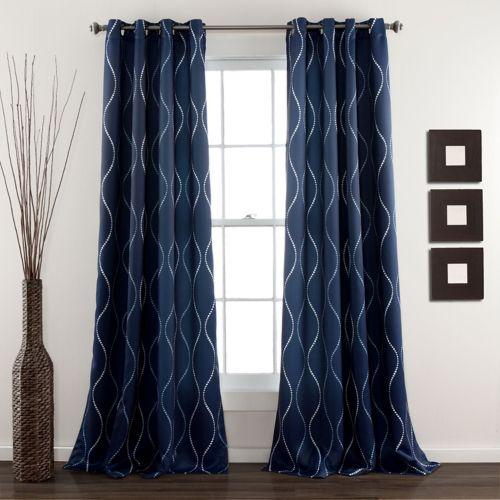 Lush Decor Swirl 2-pk. Room Darkening Curtains - 52'' x 84''