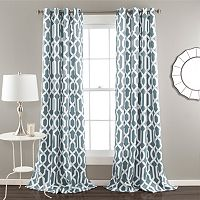 Lush Decor Edward 2-pk. Room Darkening Curtains