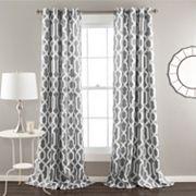 Lush Decor 2-pack Edward Room Darkening Window Curtains